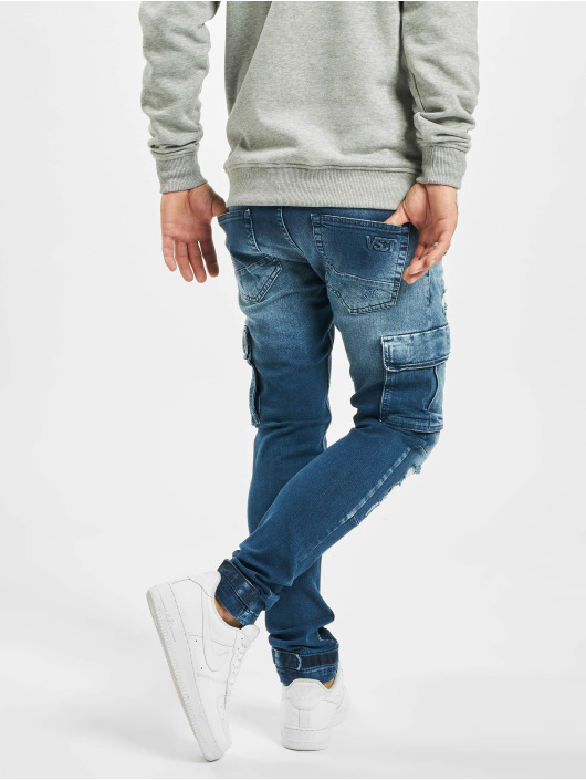 VSCT Clubwear Chino bukser Knox Adjust Hem blå