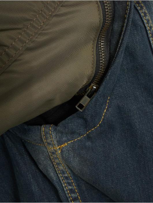 VSCT Clubwear Denim Jacket Bomber Sleeves khaki