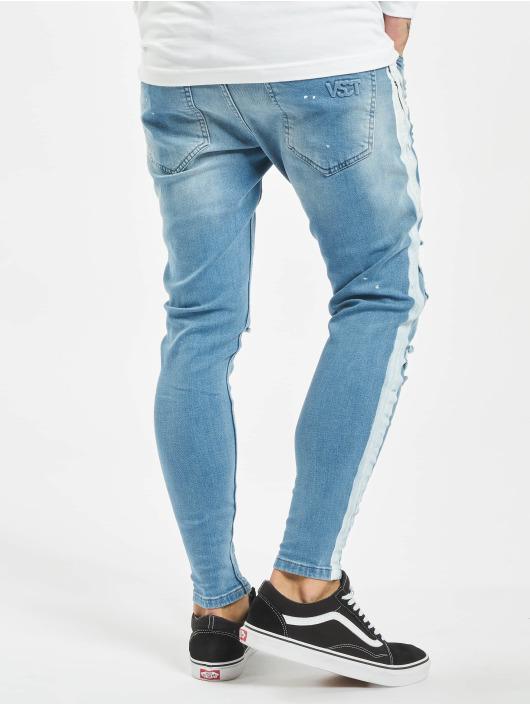 VSCT Clubwear dżinsy przylegające Thor Stripe Track Denim niebieski