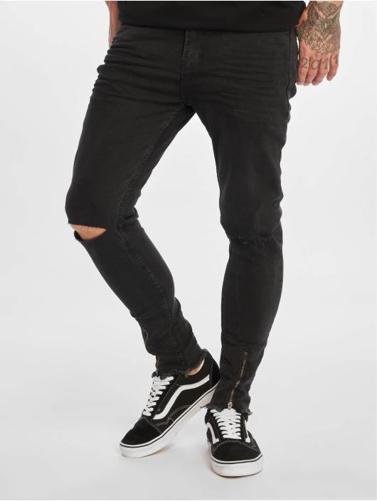 VSCT Clubwear Dżinsy straight fit Keanu Leg Zip czarny