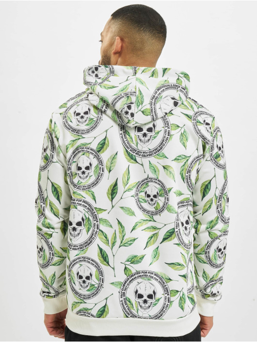 VSCT Clubwear Hupparit Skull X Leaf valkoinen