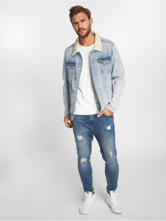 VSCT Clubwear Jean Bundy Trucker Sherpa modrá