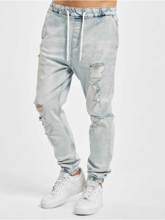 VSCT Clubwear Jean carotte antifit Noah Cuffed Laces bleu