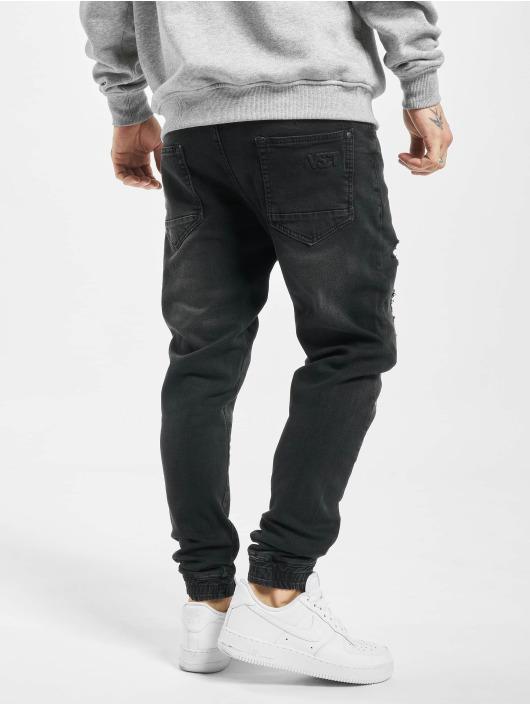 VSCT Clubwear Jean carotte antifit Noah Cuffed Sunfaded Antifit noir