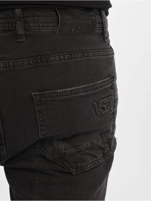 VSCT Clubwear Jean coupe droite Keanu Leg Zip noir