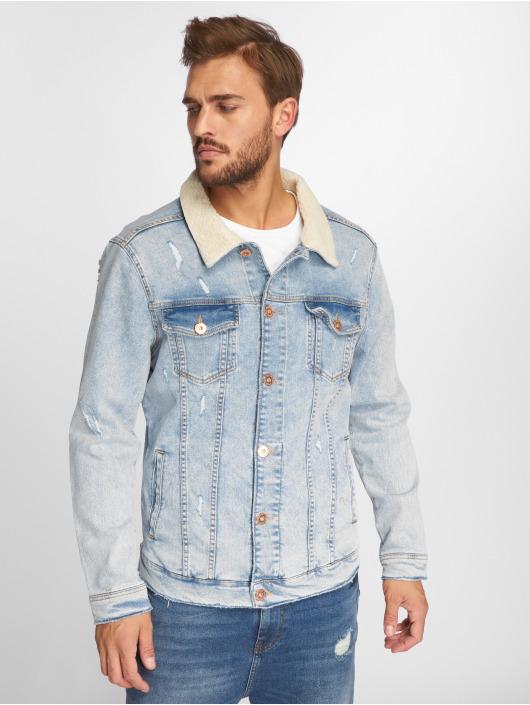 VSCT Clubwear Jean Jakker Trucker Sherpa blå