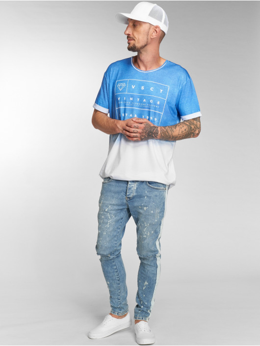 VSCT Clubwear Jean skinny Knox Slim Track bleu