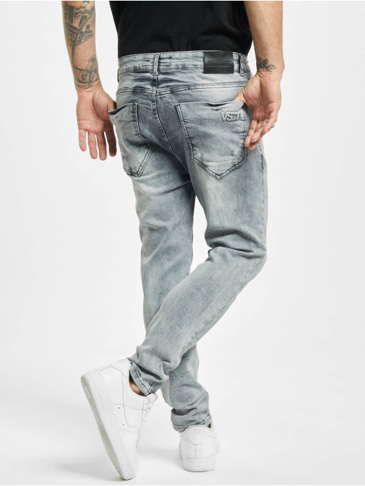 VSCT Clubwear Jean skinny Keanu Lowcrotch gris