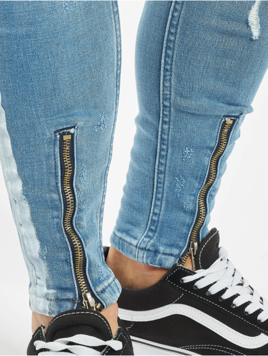 VSCT Clubwear Jean slim Thor Stripe Track Denim bleu