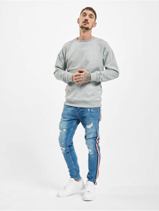 VSCT Clubwear Jean slim Keanu Multi Colour Stripe bleu