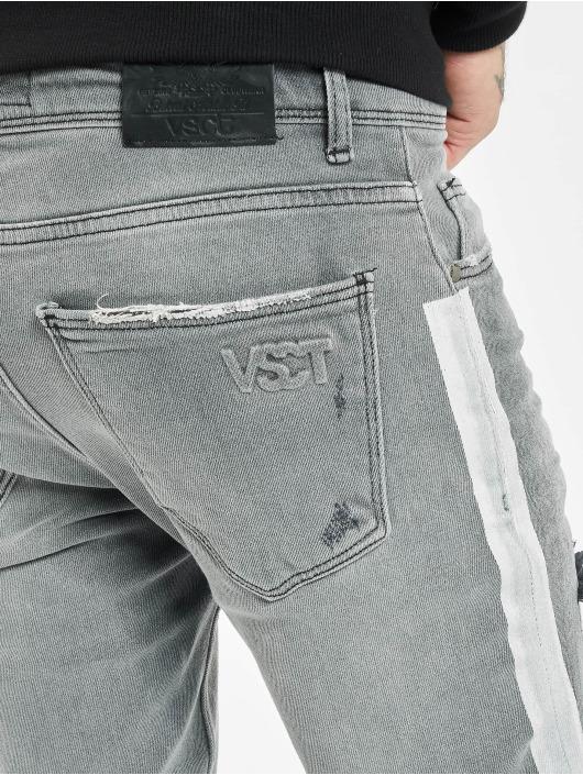VSCT Clubwear Jeans ajustado Knox Handpaint Stripe gris