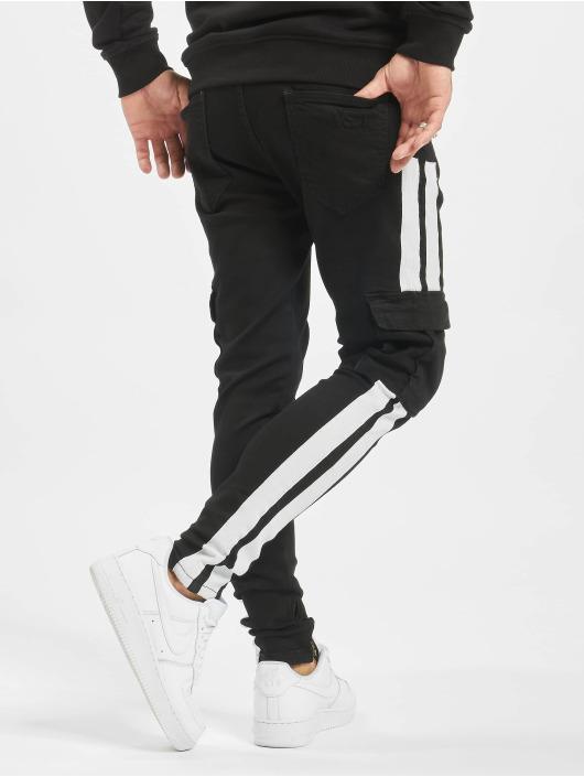 VSCT Clubwear Jeans ajustado Keanu Mega Stripe negro