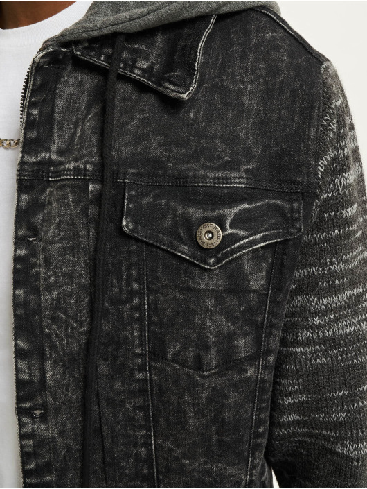 VSCT Clubwear Jeansjacken Hybrid Denim schwarz