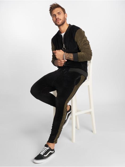 VSCT Clubwear Joggebukser Gathered Leg Velours svart