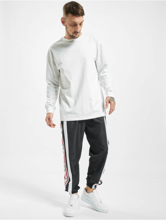 VSCT Clubwear Jogging kalhoty MC Nylon Striped čern