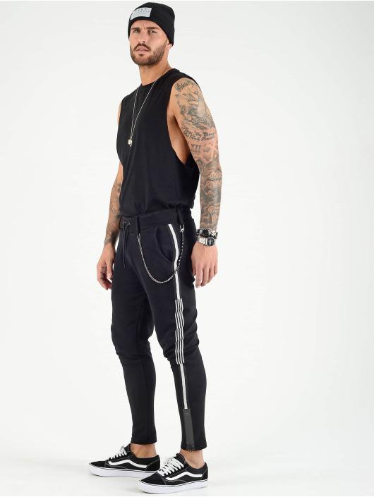 VSCT Clubwear Jogging kalhoty Luxury Altered Stripe čern