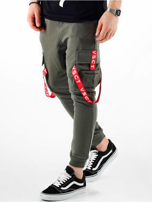 VSCT Clubwear Jogging kalhoty Jogger Logo Tape hnědožlutý