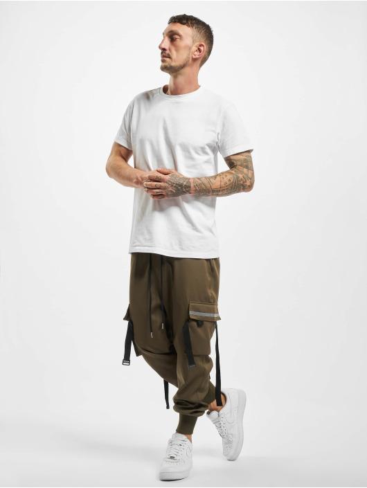 VSCT Clubwear Jogging kalhoty Combat hnědožlutý