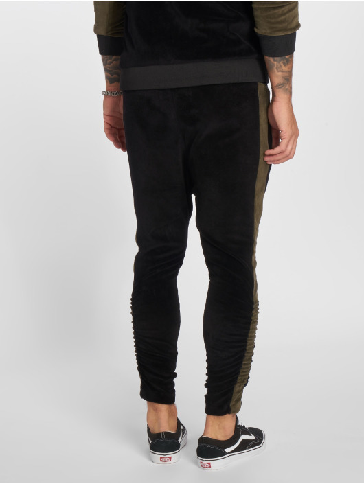 VSCT Clubwear Jogging Gathered Leg Velours noir