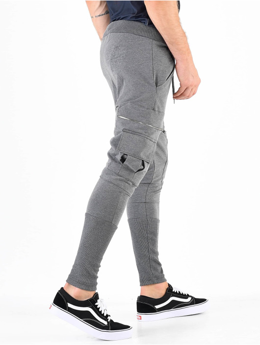 VSCT Clubwear joggingbroek Low Crotch Slim Leg Cargo grijs