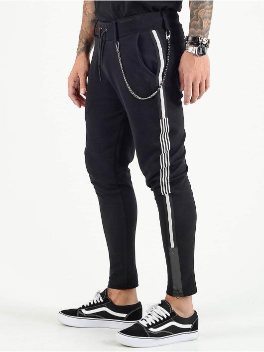 VSCT Clubwear joggingbroek Luxury Altered Stripe zwart