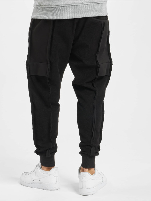 VSCT Clubwear joggingbroek Lowcrotch Cut To Edge zwart