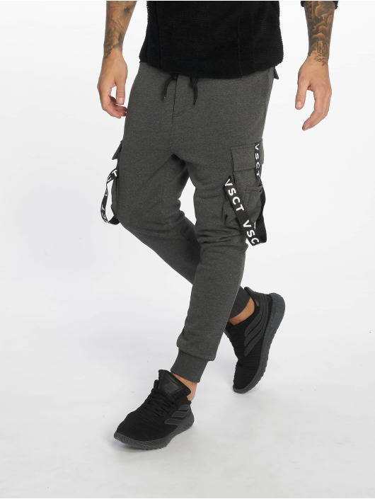 50% price wholesale free delivery VSCT Clubwear Logo Tape Cargo Pants Anthracite Melange