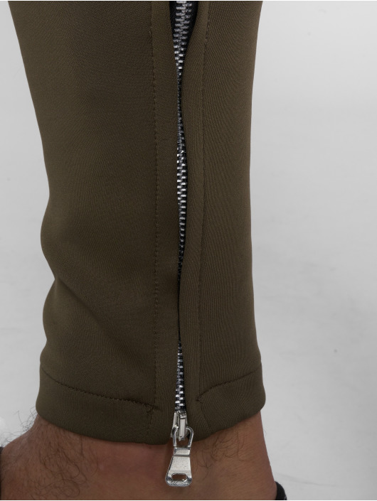 VSCT Clubwear Jogginghose Stripe with Zip Pocket khaki