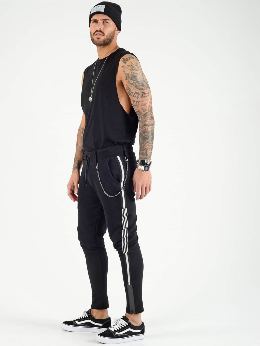 VSCT Clubwear Jogginghose Luxury Altered Stripe schwarz