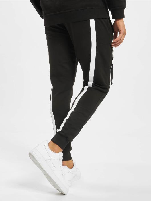 VSCT Clubwear Jogginghose 4-Stripe schwarz