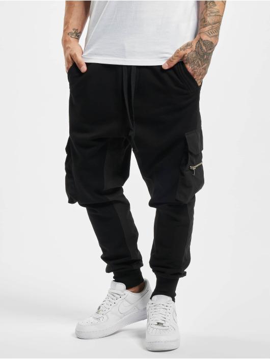VSCT Clubwear Jogginghose Clubwear Mix Fabric Future Baggy schwarz