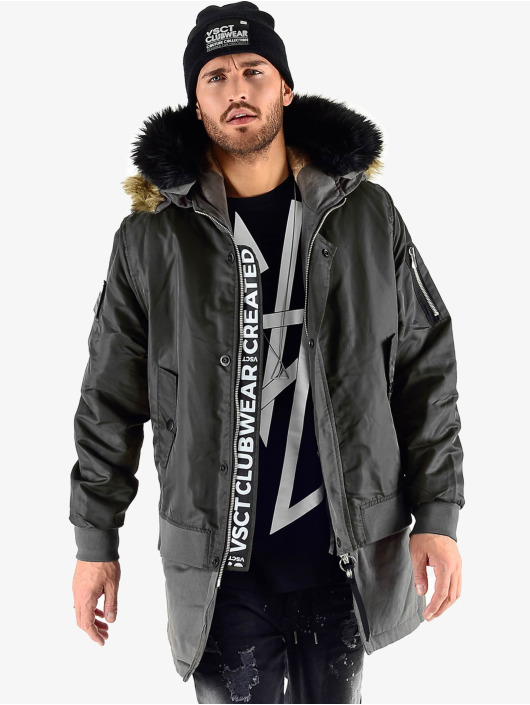 VSCT Clubwear Kurtki zimowe 2 In 1 Assasin czarny