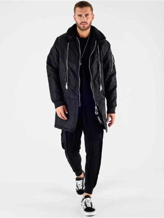 VSCT Clubwear Kurtki zimowe Huge Decor Zipper czarny