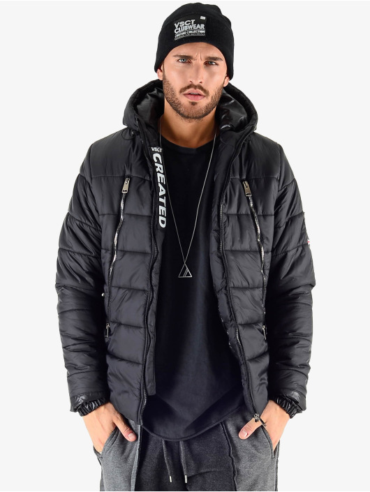 VSCT Clubwear Kurtki zimowe Padded Puffer czarny
