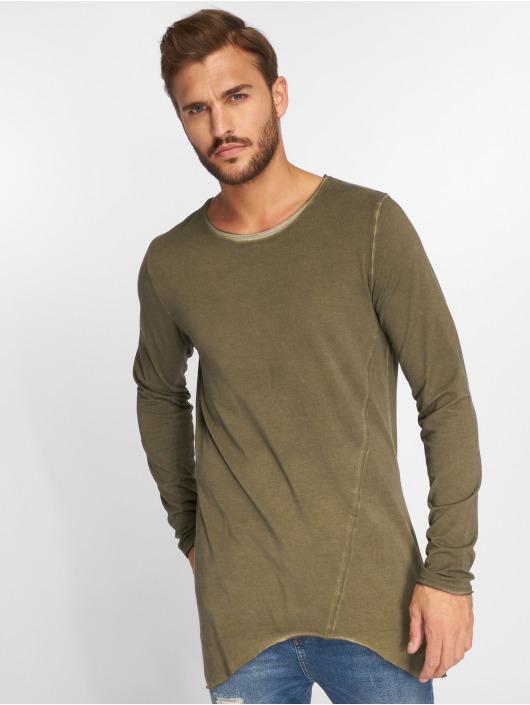 VSCT Clubwear Longsleeve Longshirt Oilwash khaki