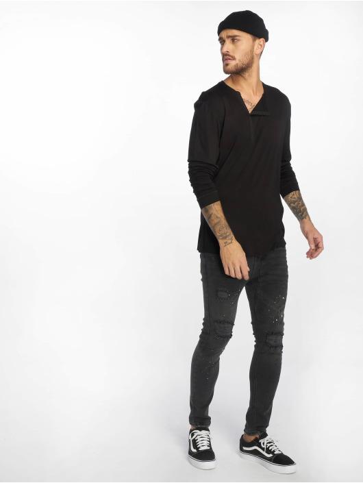 VSCT Clubwear Longsleeve Cut Collar schwarz