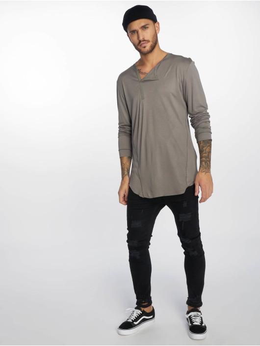 VSCT Clubwear Longsleeves Cut Collar szary