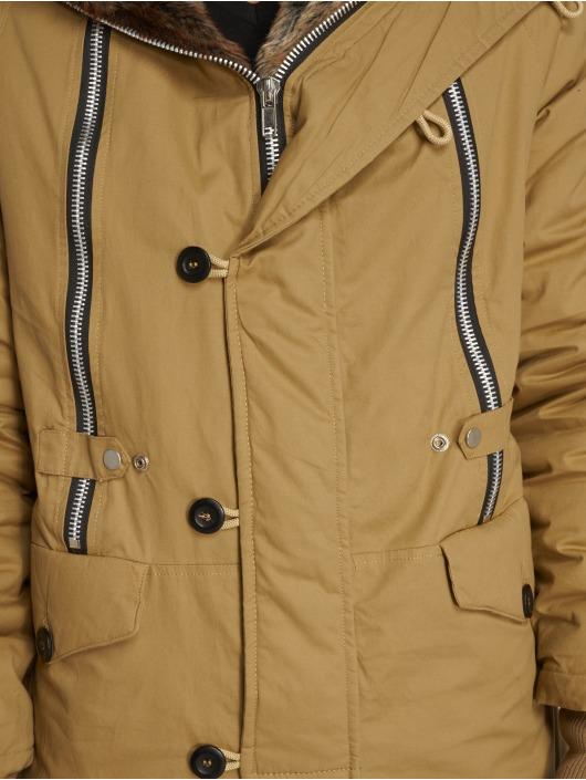VSCT Clubwear Manteau hiver Double-Zipper Huge Luxury brun