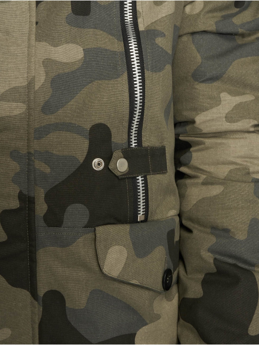 VSCT Clubwear Manteau hiver Double-Zipper Huge Luxury camouflage