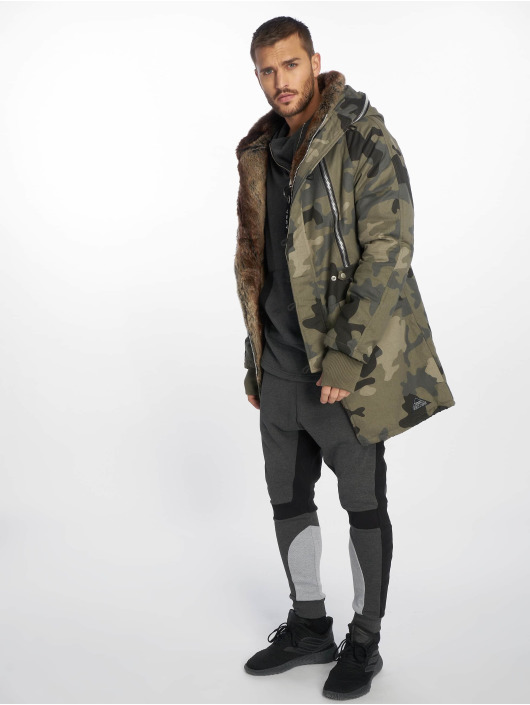 VSCT Clubwear Manteau hiver Double-Zipper Huge Luxury camouflage