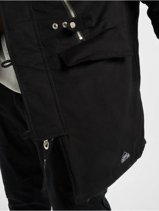 VSCT Clubwear Manteau hiver Double-Zipper Huge Luxury noir