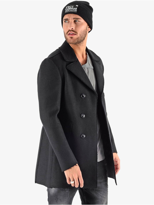VSCT Clubwear Mantel Sophisticated 2 BtnRows schwarz