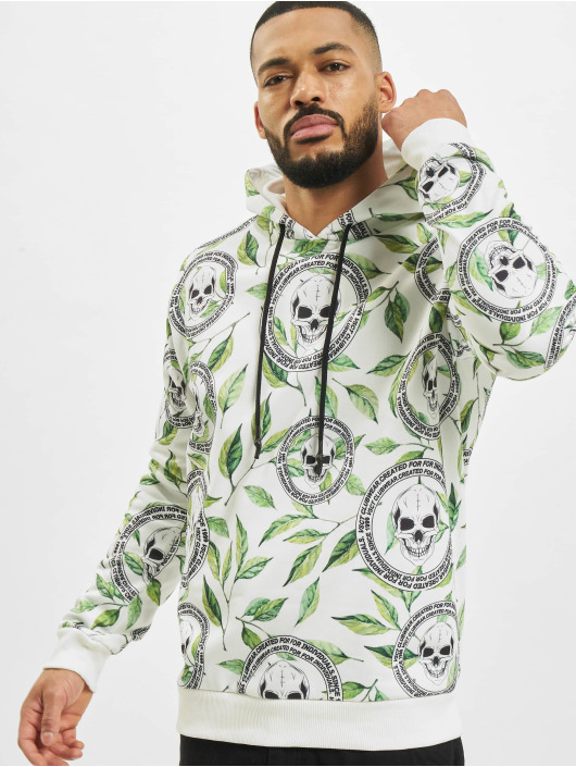 VSCT Clubwear Mikiny Skull X Leaf biela