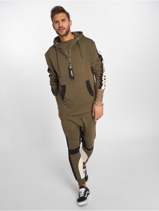 VSCT Clubwear Mikiny Striped kaki