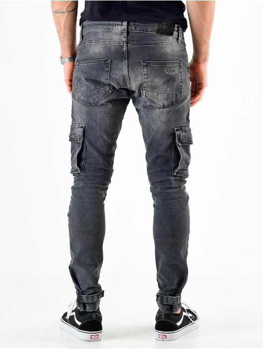 VSCT Clubwear Pantalon cargo Knox Adjust Hem Denim gris