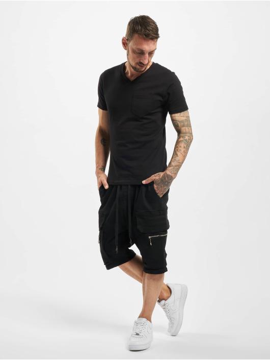VSCT Clubwear Pantalón cortos Logan Denim Bermuda negro