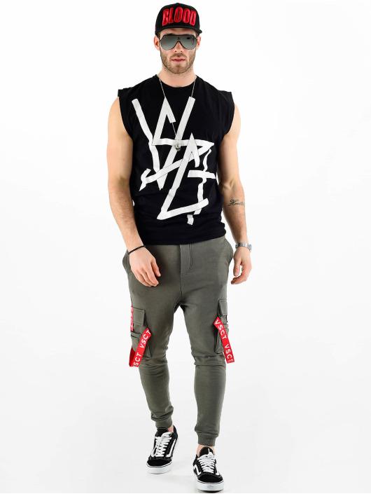 VSCT Clubwear Pantalone ginnico Jogger Logo Tape cachi