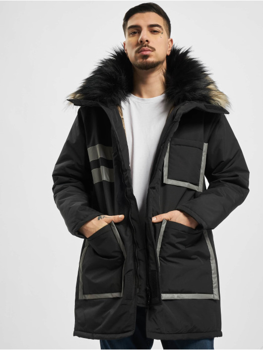 VSCT Clubwear Parka Chunk Reflective 2-Fur Freezer J èierna