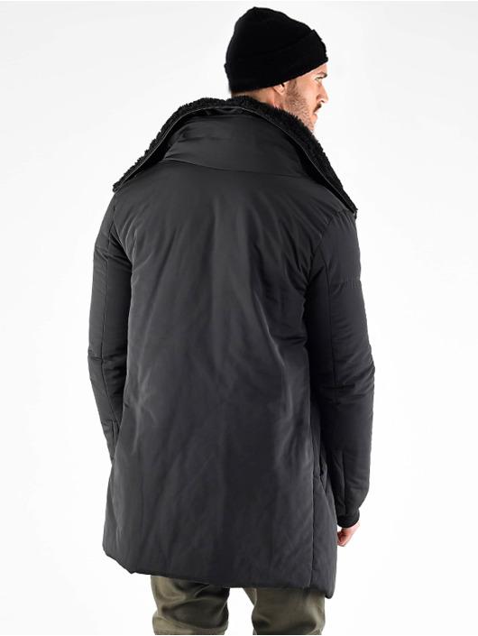 VSCT Clubwear Parka Asymetric Luxury Zipper black