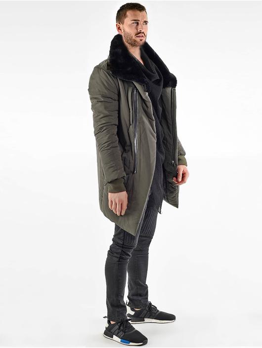 VSCT Clubwear Parka Asymetric Luxury Zipper cachi